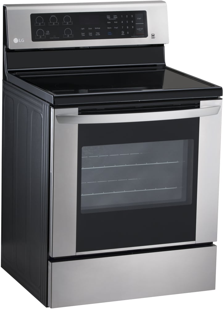 lg lre3061st 30 inch electric range with true convection power burner 5 heating elements 6 3. Black Bedroom Furniture Sets. Home Design Ideas