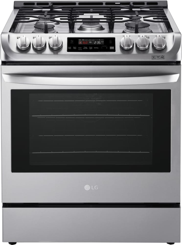 kitchen stove gas lg lsg4511st 30 inch gas slide in range with 6 3 cu ft 750