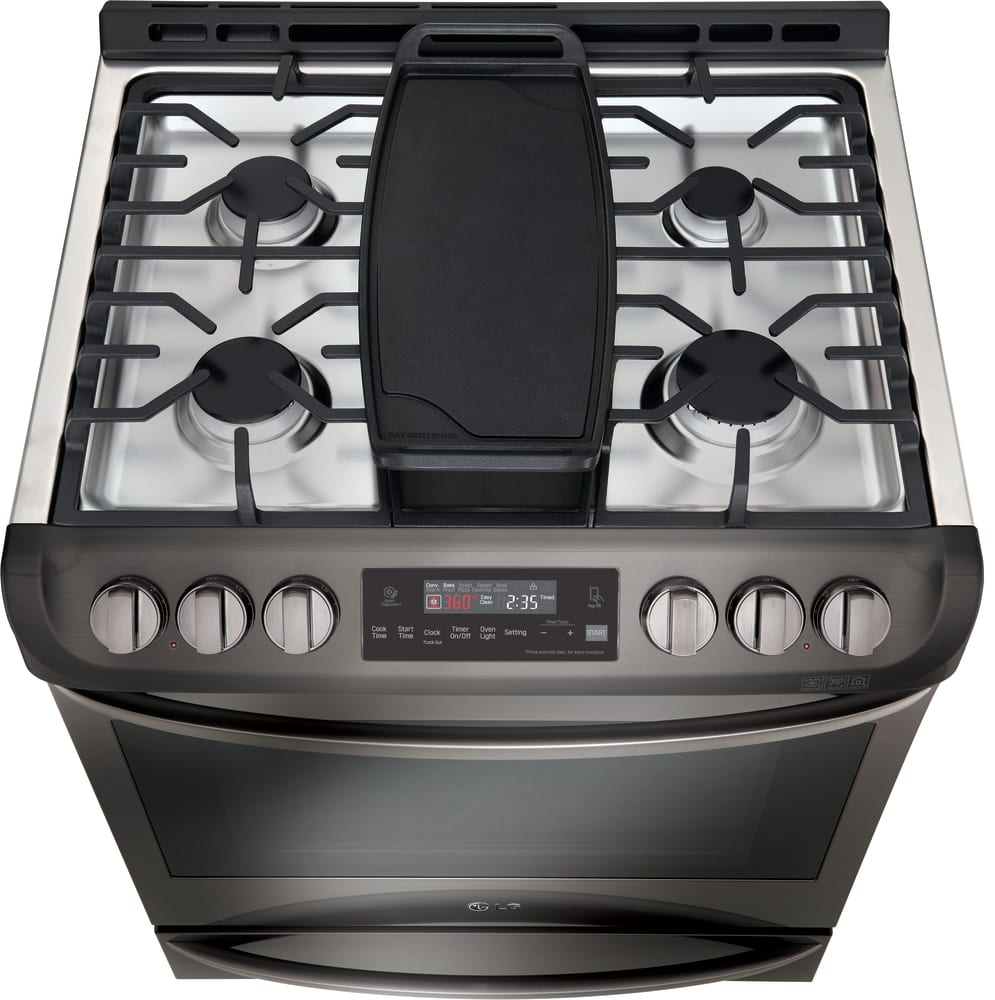 LG LSG4513BD 30 Inch Slide In Gas Range With ConvectionR UltraHeat BurnerTM EasyCleanR 63 Cu Ft Capacity 5 Sealed Burners 11 Cooking Modes