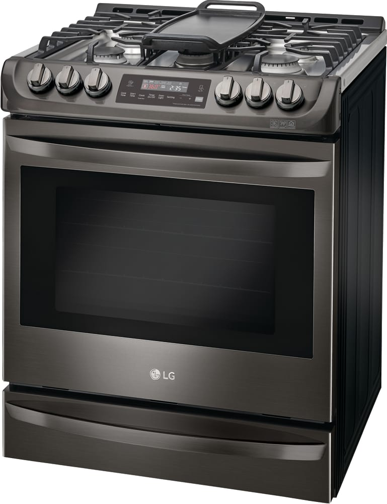 Lg Lsg4513bd Stainless Steel Finish Around The Wideview Window And On Lower Storage Drawer