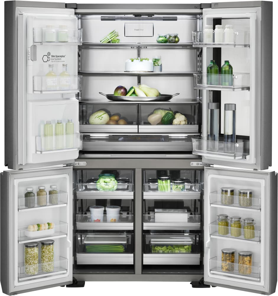 Signature Custom Cabinets Lg Lupxc2386n 36 Inch Counter Depth French Door Refrigerator With