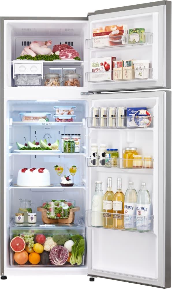 LG LTNC11121V 24 Inch Top-Freezer Refrigerator with Pocket Handles ...