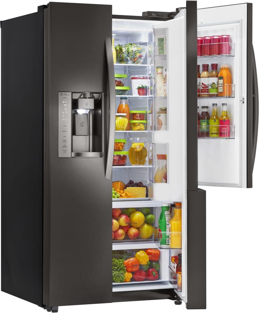 lg lsxs26366d side by side refrigerator w door in door. Black Bedroom Furniture Sets. Home Design Ideas
