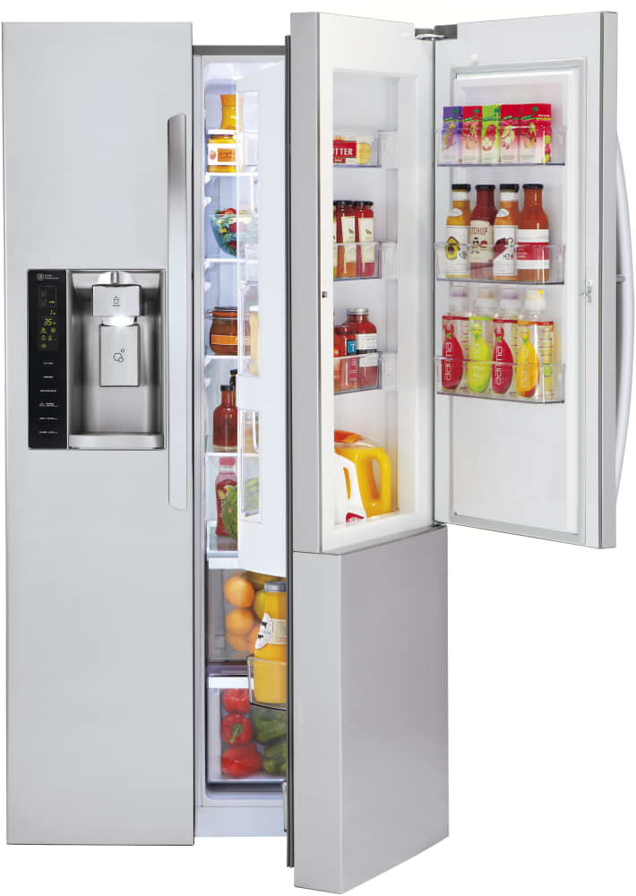 Lg Lsxs26366s 36 Inch Side By Side Refrigerator With Door
