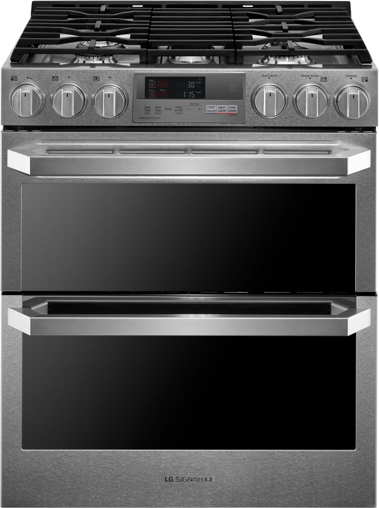 lg lutd4919sn 30 inch slide in dual fuel range with dual fuel probake convection infrared. Black Bedroom Furniture Sets. Home Design Ideas