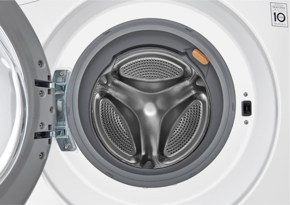 compact allinone washer lg wm3488hw front controls lg wm3488hw stainless steel interior