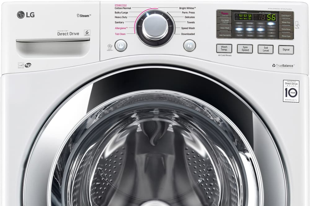 Lg Wm3670hwa 27 Inch 4 5 Cu Ft Front Load Washer With