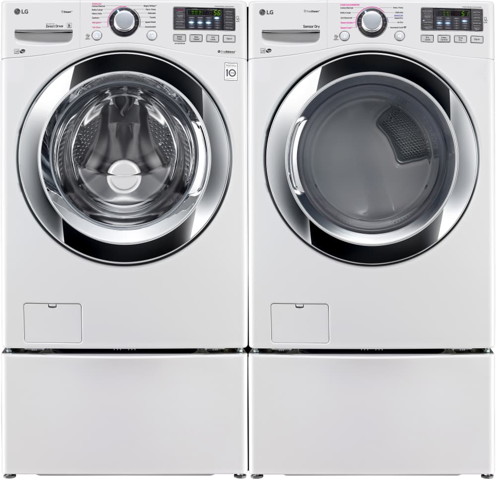 Lg Wm3670hwa Shown With Matching Dryer Pedestals Sold Separately