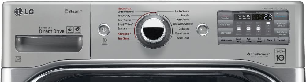 Lg Wm8100hva 29 Inch 5 2 Cu Ft Front Load Washer With 14