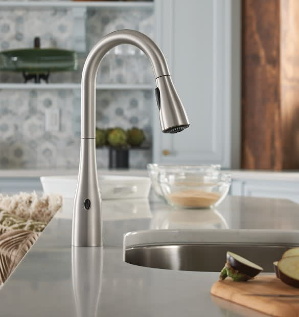 Moen 7594ewc Arbor One Handle High Arc Motionsense Wave Pulldown Kitchen Faucet Chrome