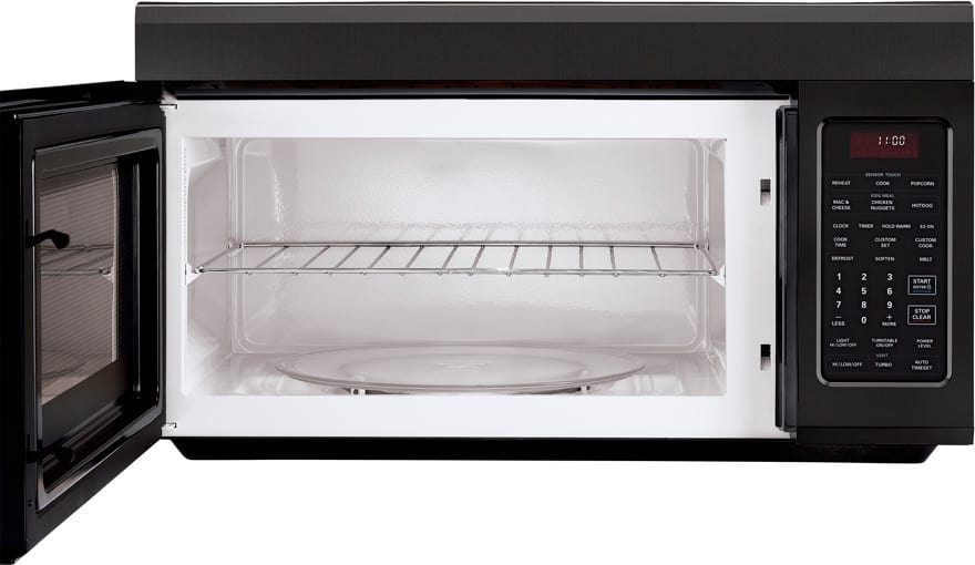 Lg Lmv1813sb 1 8 Cu Ft Over The Range Microwave With 400