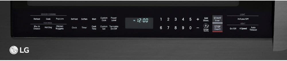 Lg Lmvm2033bm 2 0 Cu Ft Over The Range Microwave Oven