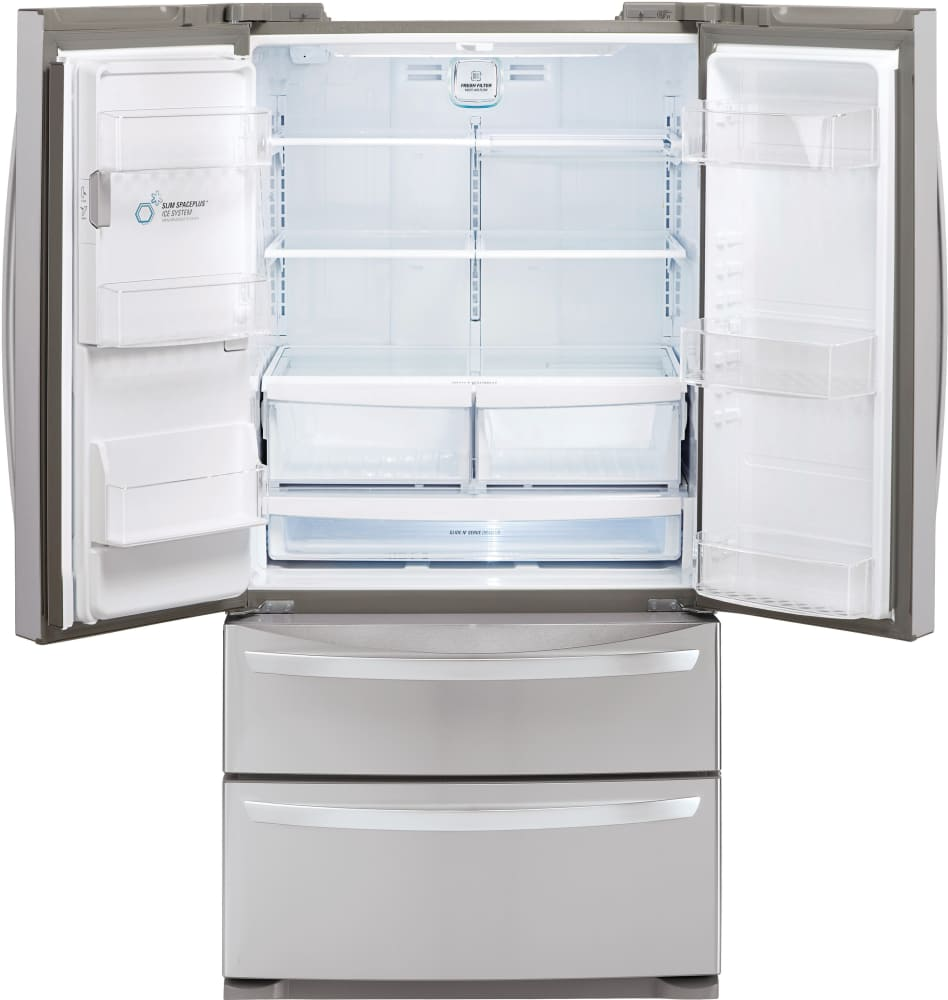 refrigerator 69 inches tall. lg lmxs27626s 36 inch 4-door french door refrigerator with slim spaceplus®, smart cooling®, iceplus™ freezing, durabase™ drawer, glide n\u0027 serve™ 69 inches tall