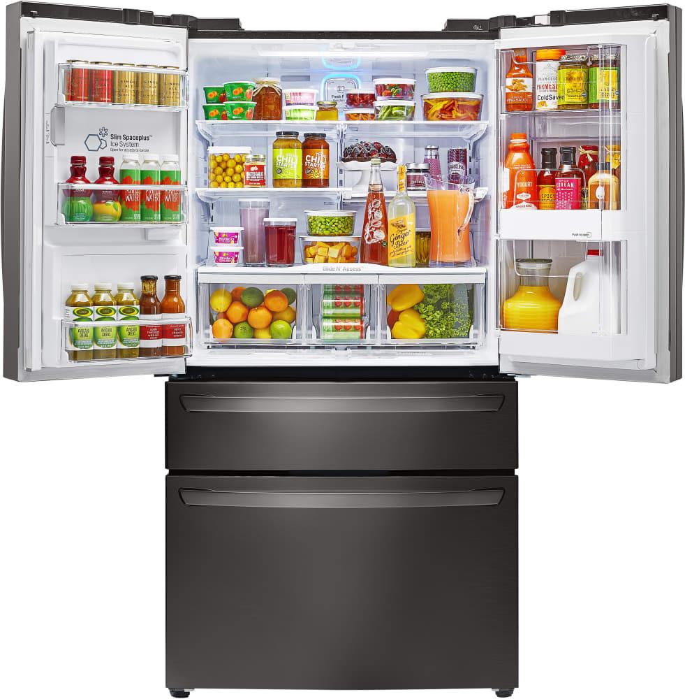 Lg lmxs30776d 36 inch 4 door french door refrigerator with door in lg lmxs30776d door in door system sciox Image collections