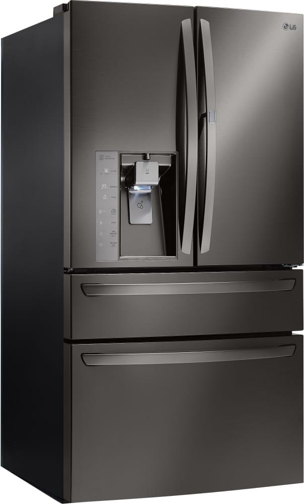 Lg lmxs30776d 36 inch 4 door french door refrigerator with door in lg lmxs30776d lg french door refrigerator with door in door black stainless sciox Image collections