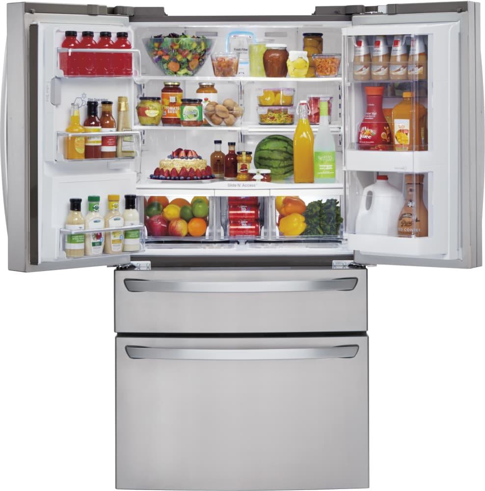 Lg Lmxs30776s 36 Inch 4 Door French Door Refrigerator With