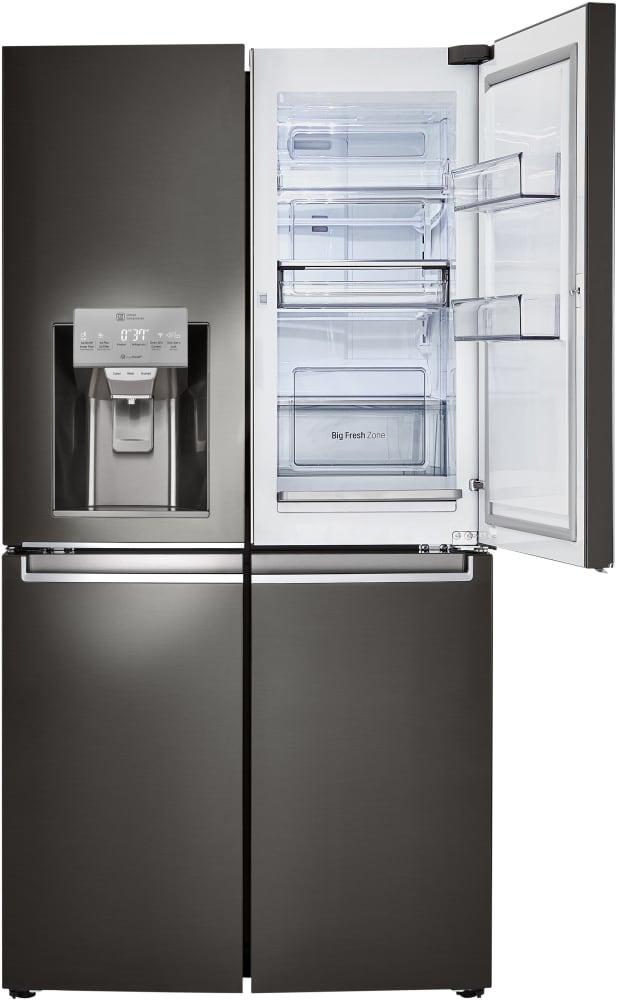lg lnxs30866d 36 inch 4 door french door refrigerator with door in door s coldsaver panel. Black Bedroom Furniture Sets. Home Design Ideas
