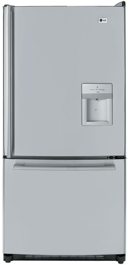 Lg Lrbc22544st 22 4 Cu Ft Bottom Freezer Refrigerator