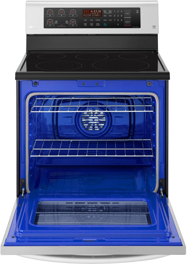 East Coast Auto >> LG LRE3193ST 30 Inch Freestanding Electric Range with True ...