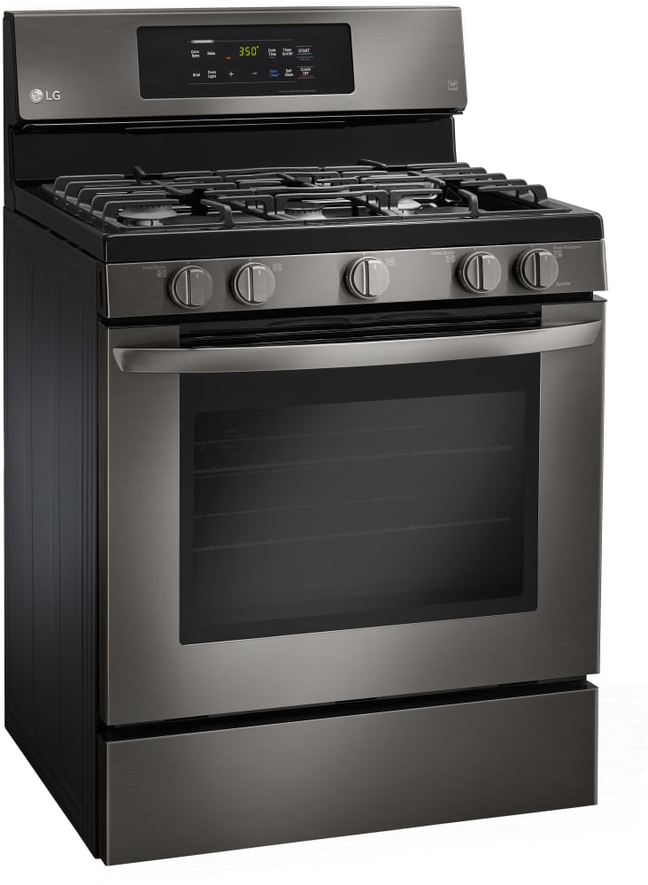 lg glass top stove. lg lrg3081bd - black stainless gas range from lg glass top stove s