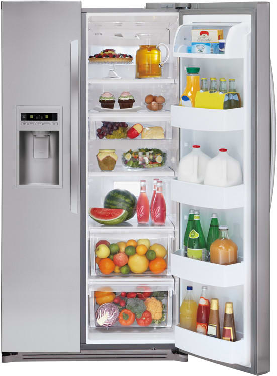 Lg Lsc27925sb 26 5 Cu Ft Side By Side Refrigerator With