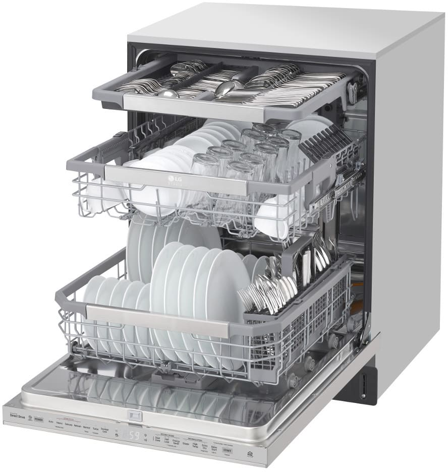 Lg Lsdt9908st Fully Integrated Quadwash Dishwasher With