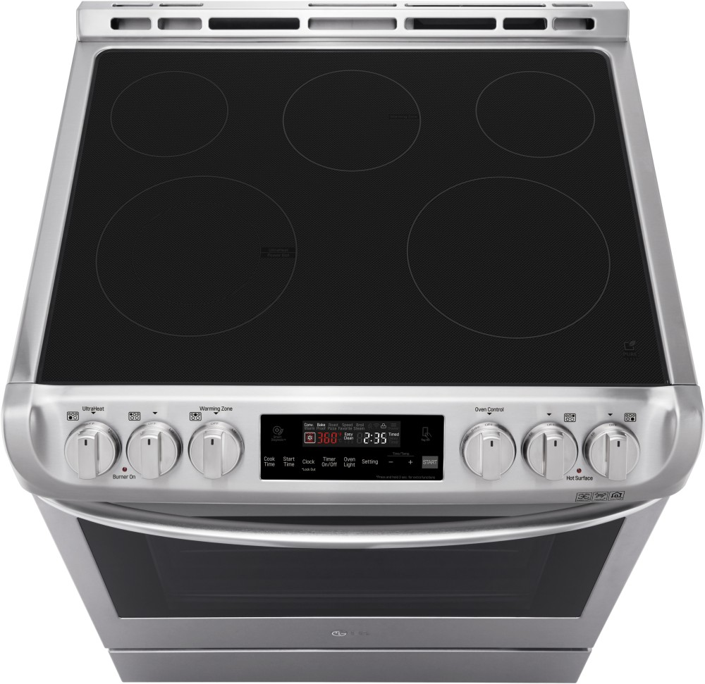 LG LSE4611BD 30 Inch Slide-In Electric Range with ProBake ...