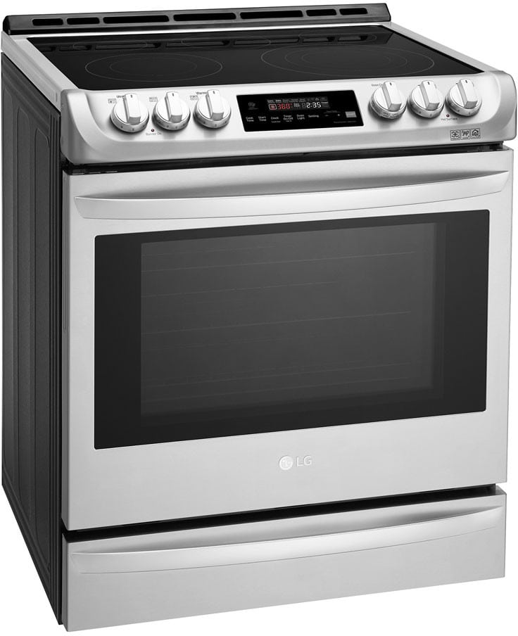 Lg Lse4615st 30 Inch Smart Slide In Electric Range With