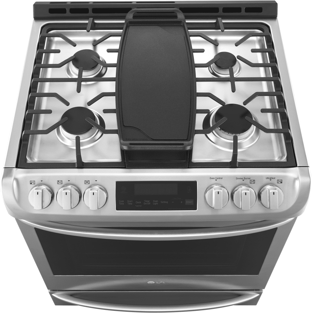 Lg Lsg4513st 4 Primary Burners 1 Center Oval Burner And Included Griddle Accessory