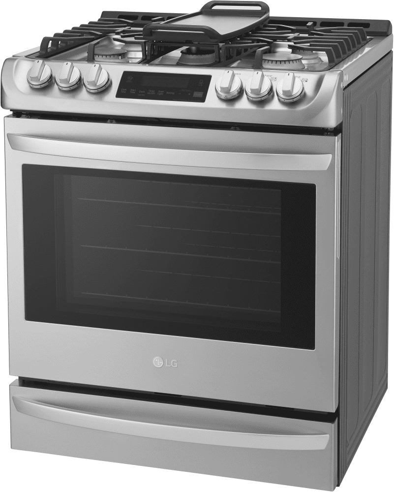 LG LSG4513ST 30 Inch Slide-in Gas Range with Convection®, LG ...
