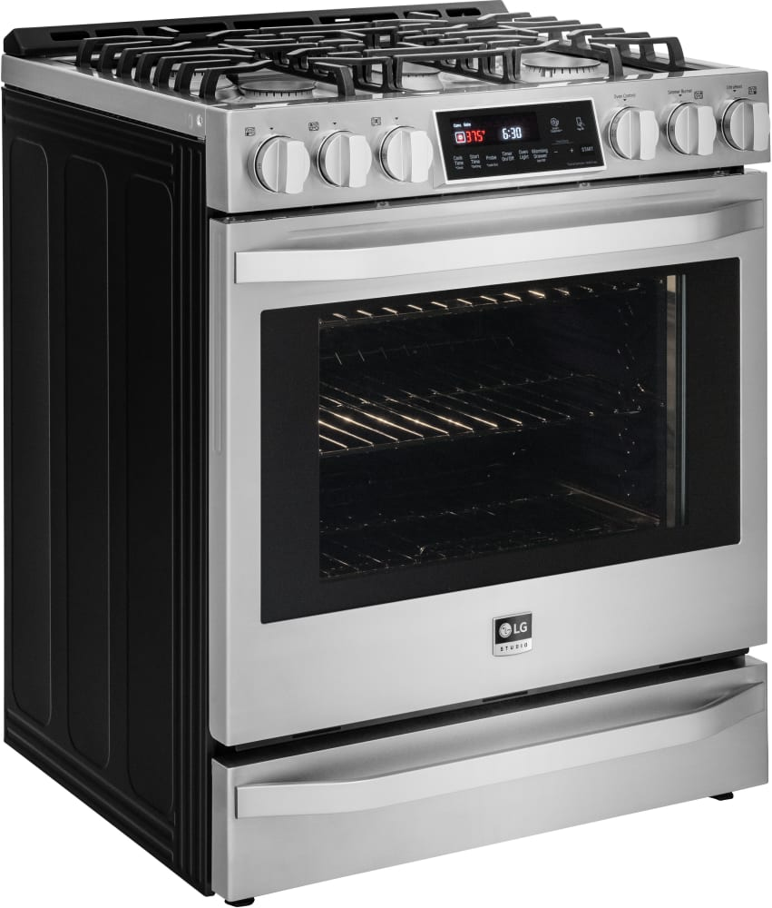 lg lssg3016st 30 inch slide in gas range with 6 3 cu ft. Black Bedroom Furniture Sets. Home Design Ideas