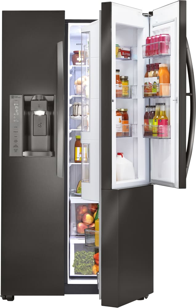 Automatic Ice Maker Kit LG LSXC22386 36 Inch Side-by-Side Refrigerator with Door ...