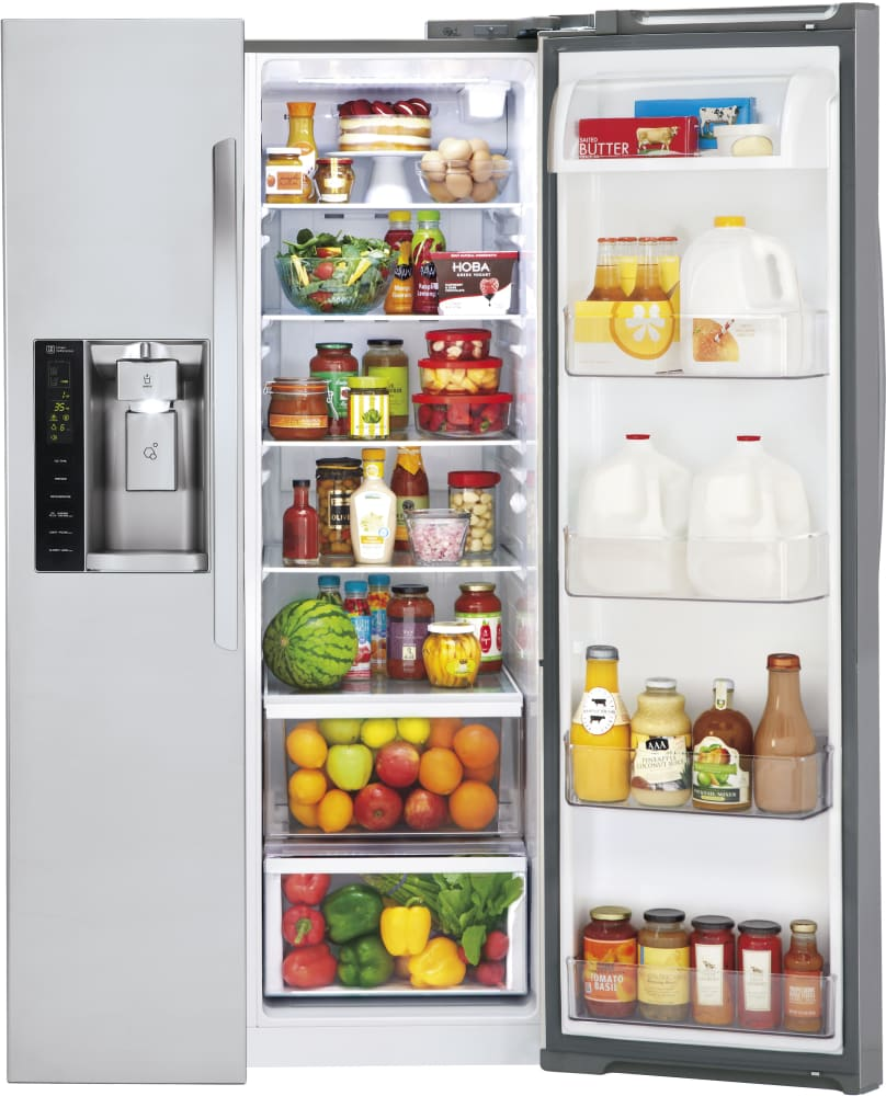 Lg Lsxs26326s 36 Inch Side By Side Refrigerator With 26 2 Cu Ft