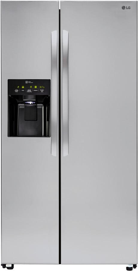 lg lsxs26336s 36 inch side by side refrigerator with. Black Bedroom Furniture Sets. Home Design Ideas