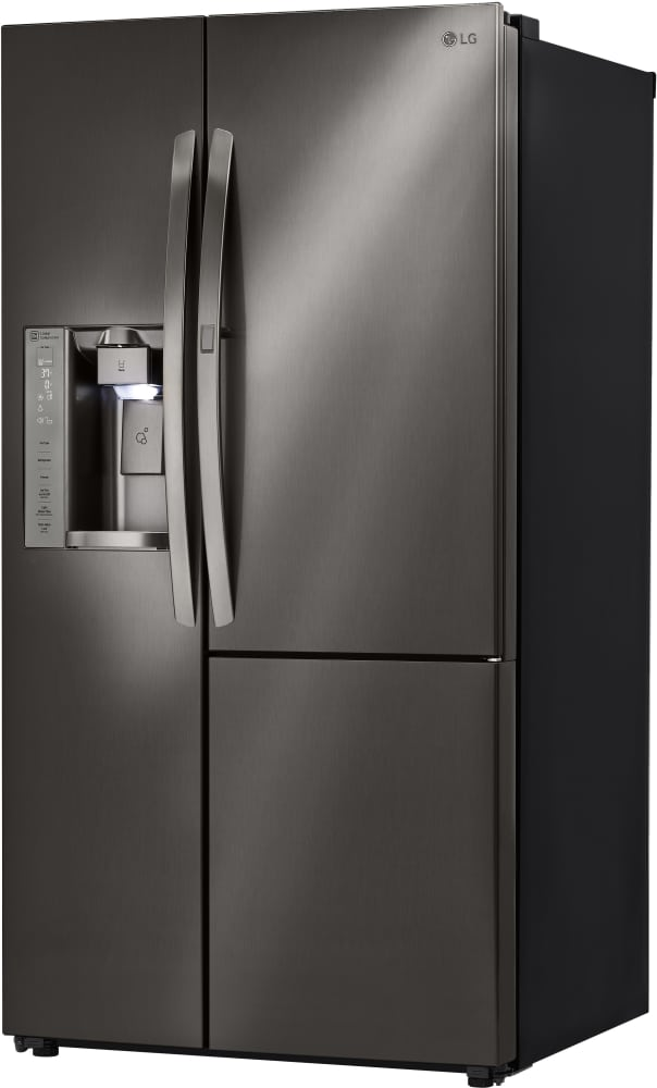 lg lsxs26386d 36 inch side by side refrigerator with door in door coldsaver panel spaceplus. Black Bedroom Furniture Sets. Home Design Ideas