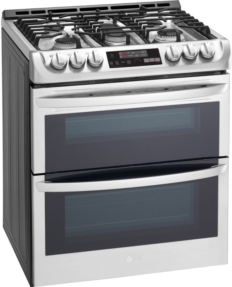 lg ltg4715st 30 inch slide in double oven gas range with probake convection ultraheat burner. Black Bedroom Furniture Sets. Home Design Ideas