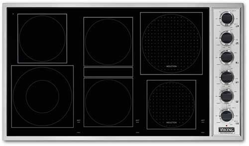 Viking Electric Cooktop ~ Viking vccu bsw inch induction radiant cooktop with