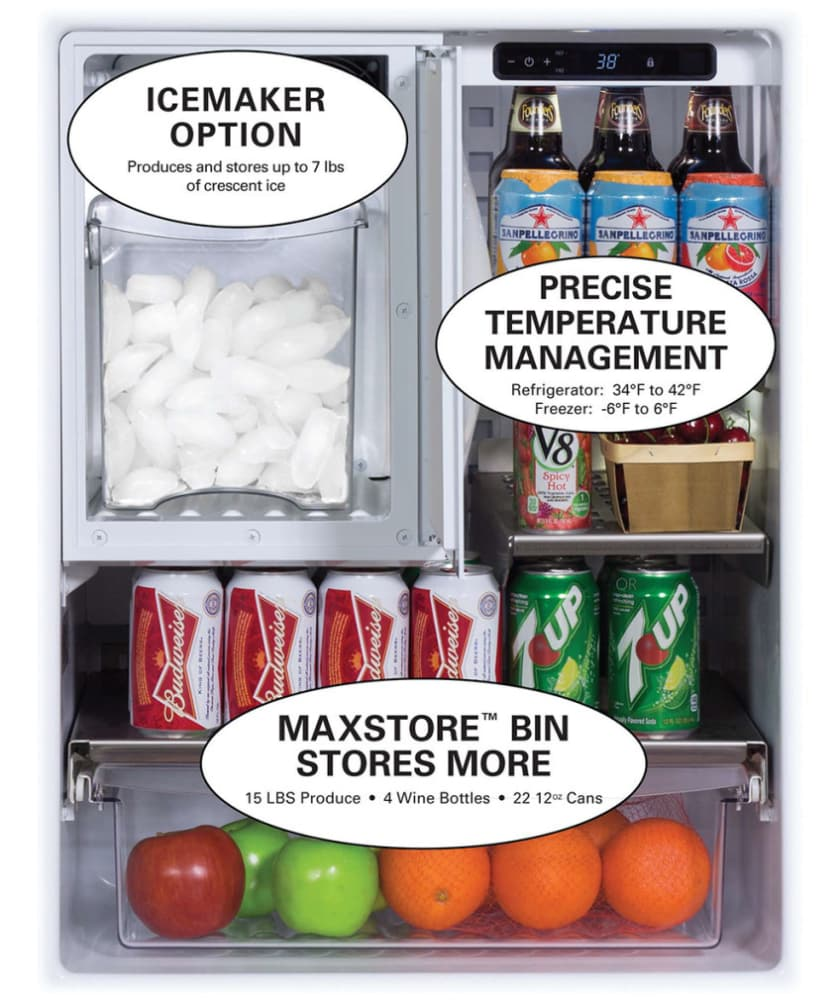 Refrigerator Outdoor Marvel Mo24rfs2ls 24 Inch Outdoor Refrigerator With Freezer
