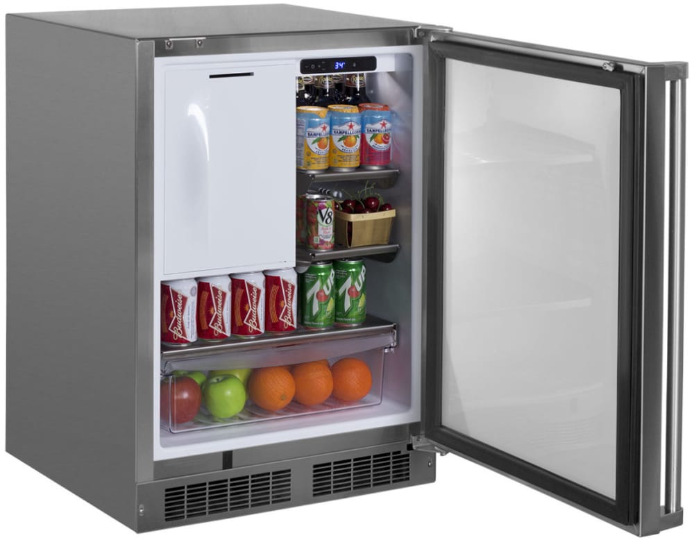 Marvel Mo24rfs2ls 24 Inch Outdoor Refrigerator With