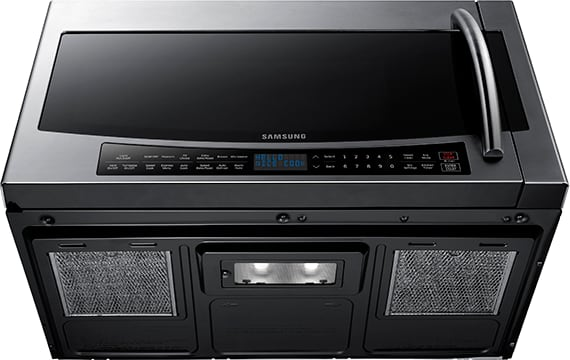 Samsung mc17j8000cs 1 7 cu ft over the range convection - Stainless steel microwave interior ...