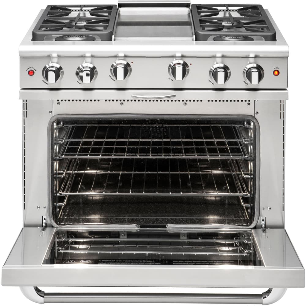 capital mcr364gn 36 inch pro style gas range with 4 sealed burners 12 thermo griddle. Black Bedroom Furniture Sets. Home Design Ideas