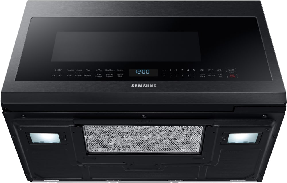 Samsung Me21m706bag 2 1 Cu Ft Over The Range Microwave With Sensor Cook Glass Touch Control