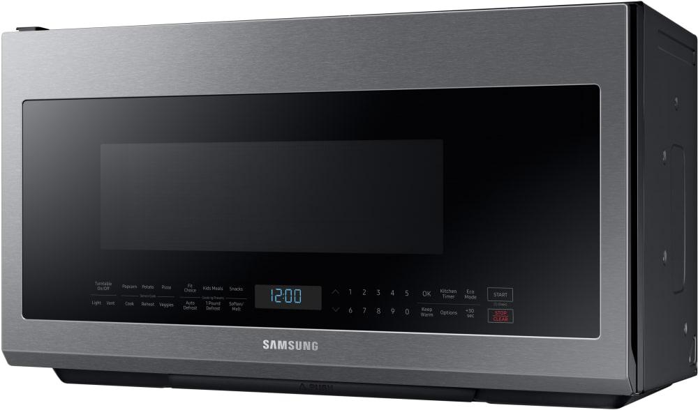 Samsung Me21m706bas 2 1 Cu Ft Over The Range Microwave