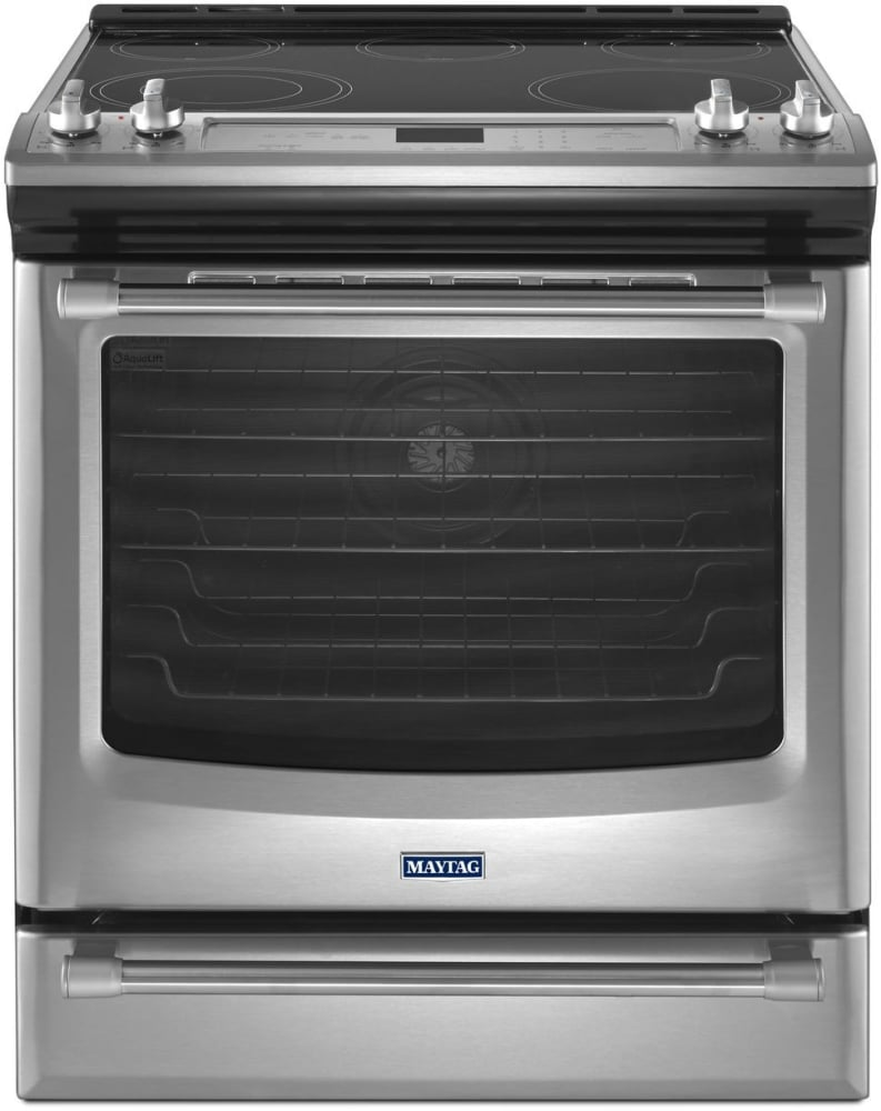 Maytag Mes8880ds 30 Inch Slide In Electric Range With 5 Sealed Double Oven Wiring Diagram Stainless Steel