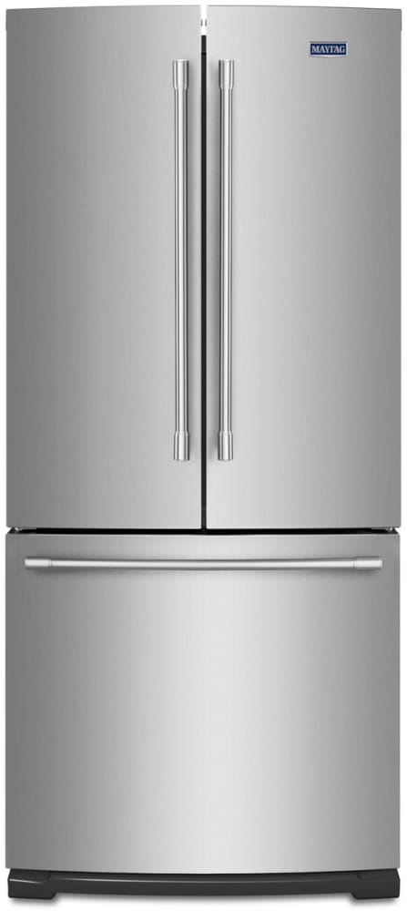 Maytag MFF2055FRZ   Maytag 30 Inch French Door Refrigerator With 20 Cu. Ft.