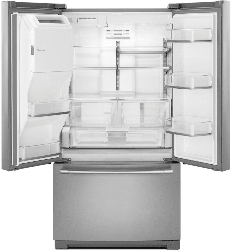 Maytag french door refrigerator reviews -  French Door Refrigerator With Dual Cool Evaporators Maytag Heritage Series Mft2776fez Adjustable Glass Shelves 2 Humidity Produce Drawers