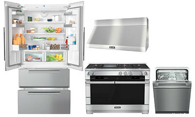 Miele Mikpreradwrh217 4 Piece Kitchen Appliances Package