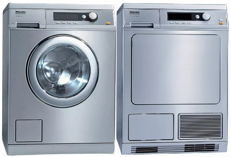 miele miwadress16065 side by side washer dryer set with. Black Bedroom Furniture Sets. Home Design Ideas