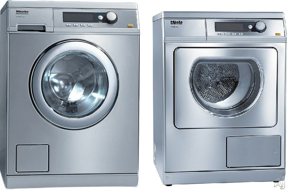 miele miwadress2 side by side washer dryer set with. Black Bedroom Furniture Sets. Home Design Ideas