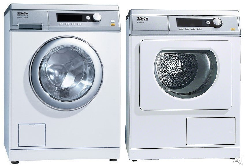 miele miwadrew1 side by side washer dryer set with front. Black Bedroom Furniture Sets. Home Design Ideas